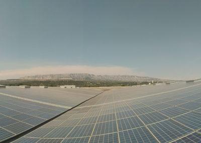 Chantier Rousset après rénovation de l'installation photovoltaïque